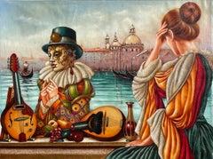 Edgar Barrios ** Venezia Languid ** Original Oil On Canvas