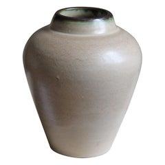 Edgar Böckman, Vase, Glazed Stoneware, Höganäs Sweden, C. 1920s