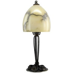 Edgar Brandt French Art Deco Wrought-Iron Table Lamp, 1920s