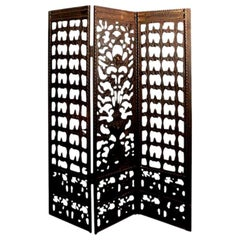 Edgar Brandt Inspired Wrought Iron Screen or Room Divider, circa 1920