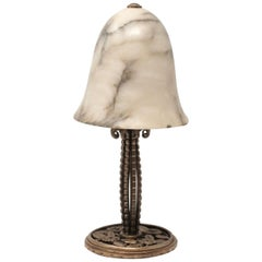 Edgar Brandt Table Lamp, Signed