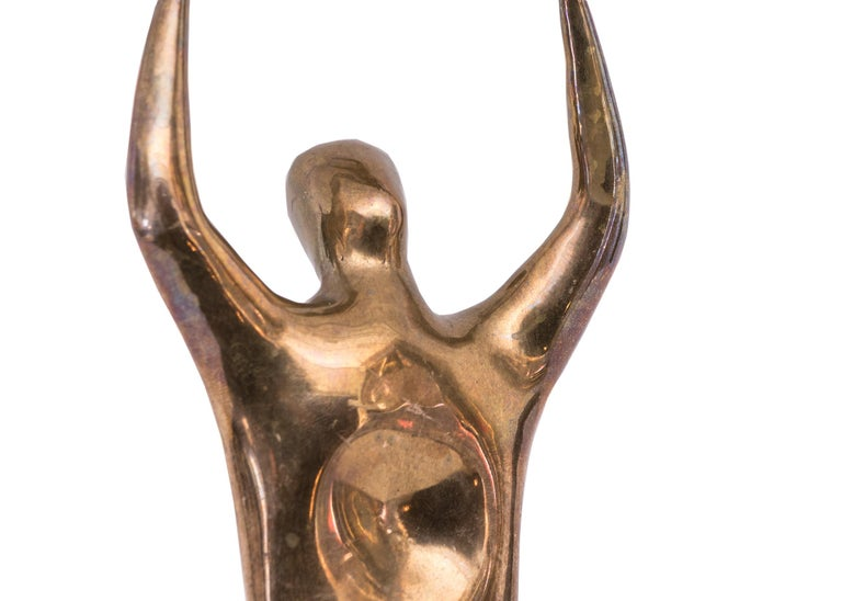 Mid-Century Modern Edgar Britton Bronze Sculpture, Untitled 'Two Nude Figures' For Sale