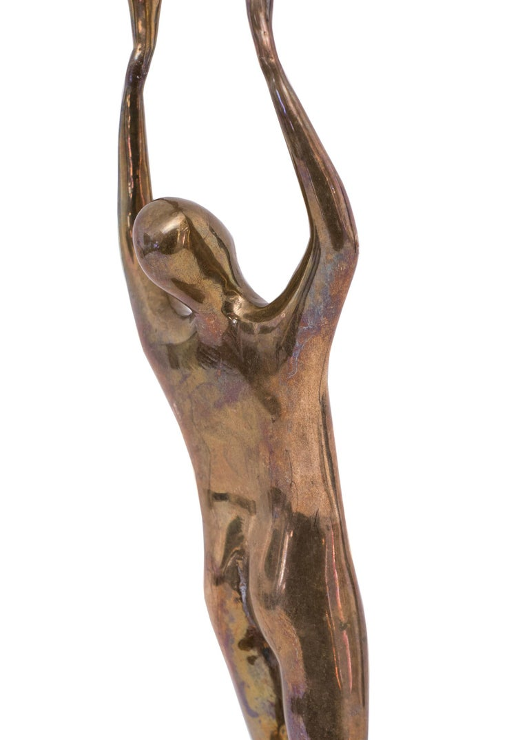 20th Century Edgar Britton Bronze Sculpture, Untitled 'Two Nude Figures' For Sale