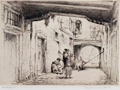 """Venise,"" Original Etching Artist Proof 3rd state signed by Edgar Chahine"