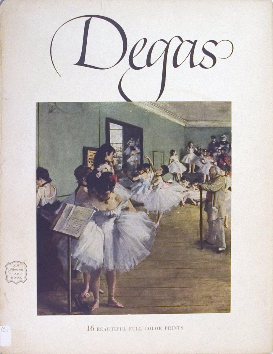 1952 Edgar Degas 'Edgar Degas- 16 Beautiful Full Color Prints' Brown,White Book