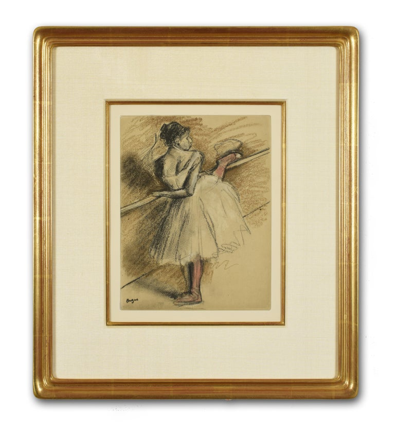 Danseuse a la barre - Impressionist Print by Edgar Degas