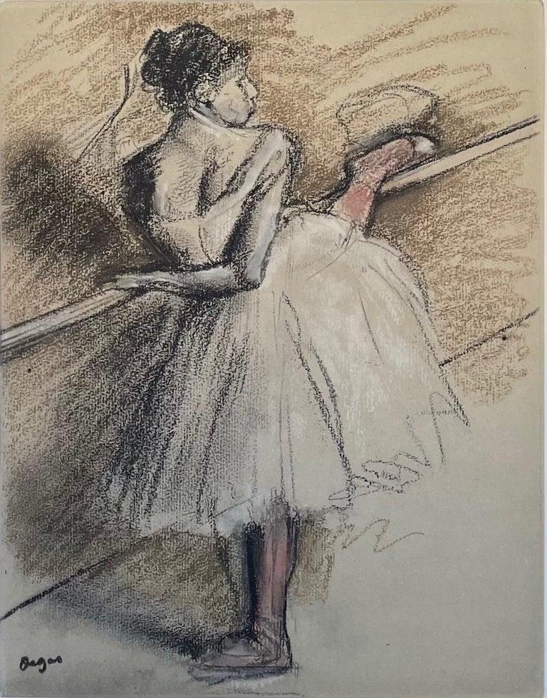 Danseuse a la barre - Print by Edgar Degas