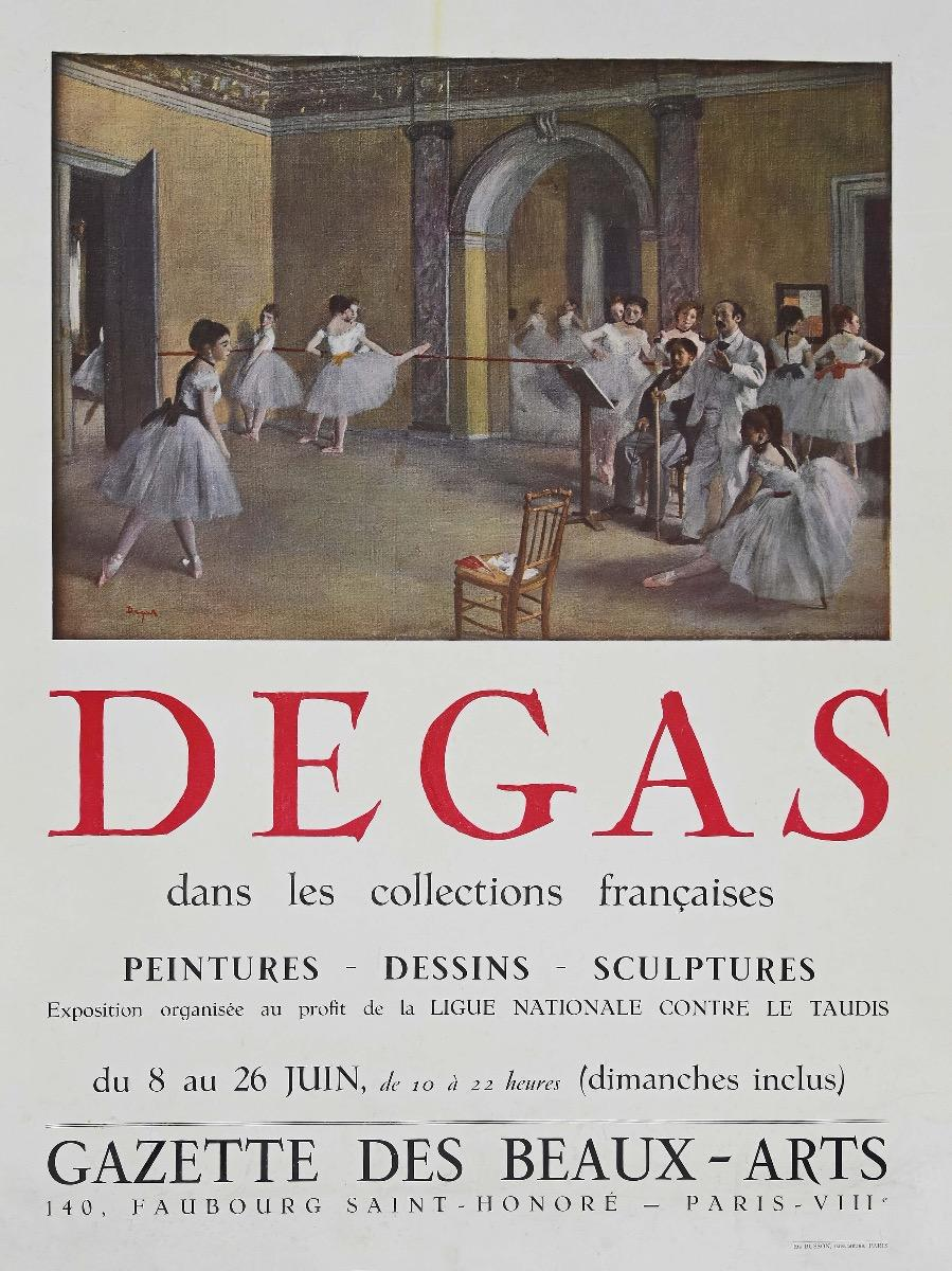 Degas - Vintage Offset Poster - Mid-20th Century