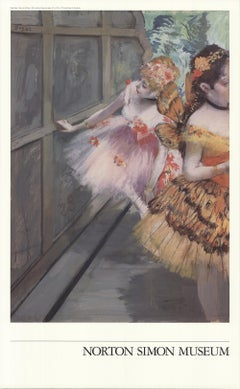 """Exhibition Poster of Dancers in the Wings 33.25"""" x 20.5"""""""