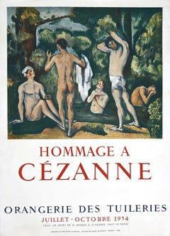 Hommage a Cèzanne - Vintage Offset Poster - 1954