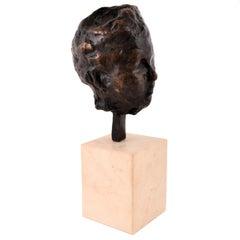 """Antique Bronze Sculpture Edgar Degas, """"Tête, étude portrait de Madame S,"""" 1892"""