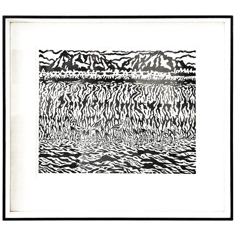 Edgar Dorsey Taylor Woodblock Print, 1959 For Sale