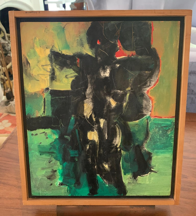 Oil on Gesso painting by Edgar L. Ewing, painted 1957, titled ICON