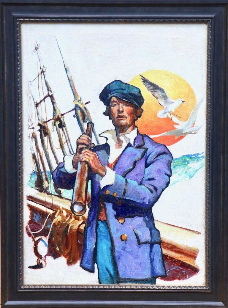 Sailor, Elks Magazine Cover, February 1931 - Painting by Edgar Franklin Wittmack