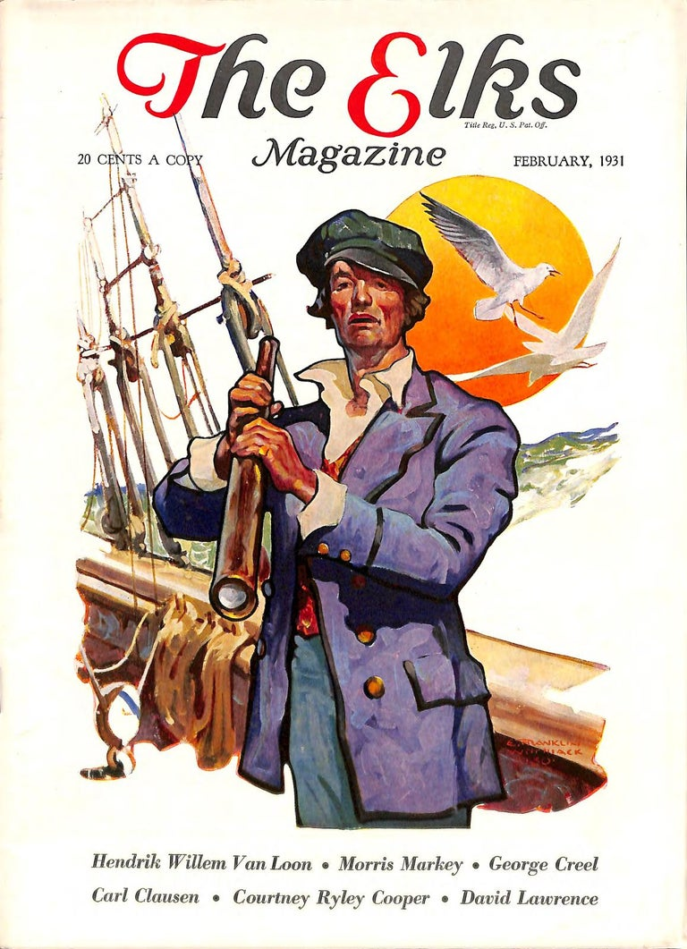 Sailor, Elks Magazine Cover, February 1931 - Gray Figurative Painting by Edgar Franklin Wittmack
