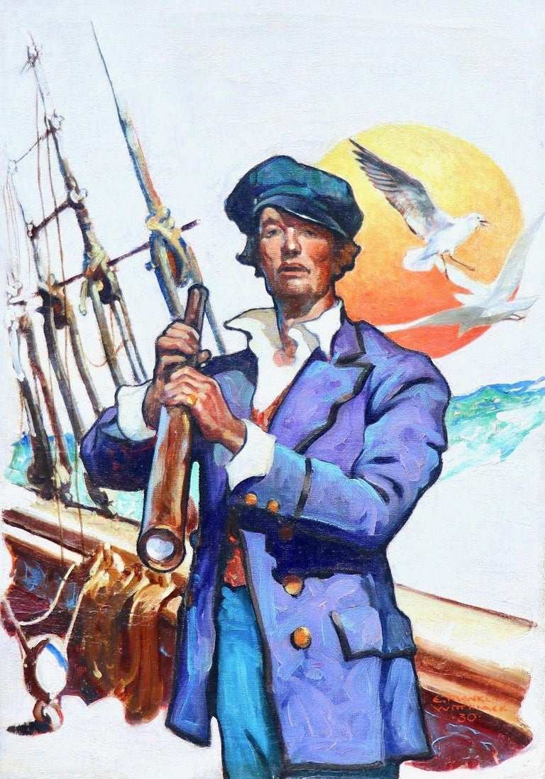 Edgar Franklin Wittmack Figurative Painting - Sailor, Elks Magazine Cover, February 1931