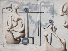 American Modernism, Figures with Telephones (Conversations), 1936 by Edgar Levy