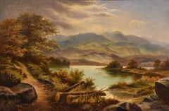 """Oil Painting by Edgar Longstaffe """"A North Welsh Landscape"""""""