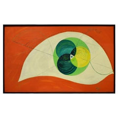 Edgar O. Dale Graphic Painting on Canvas 1964 'Signed'