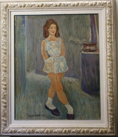"""Young dancer"" Dancer, Dance, baby  Oil cm. 60 x 76  1955"