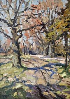 Oaks. 1974. Oil on cardboard, 93x66 cm