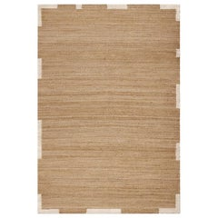 'Edge' Cream Jute Style Rug in Scandinavian Design