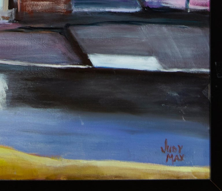 'Edge of the Fog' by Judy Max Listed Artist Oil on Canvas In Good Condition For Sale In Plymouth, MA