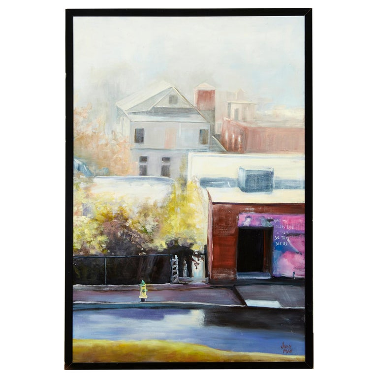 'Edge of the Fog' by Judy Max Listed Artist Oil on Canvas For Sale