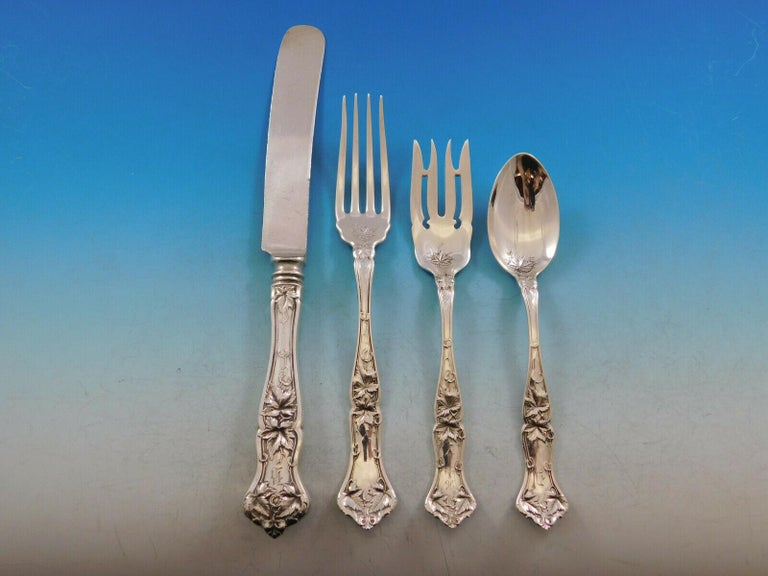 Edgewood by International Sterling Silver Flatware Set for 8 Service 89pc Dinner For Sale 5