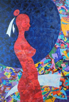 Costana in the Dark. Erotic Aggressivity, Painting, Acrylic on Canvas