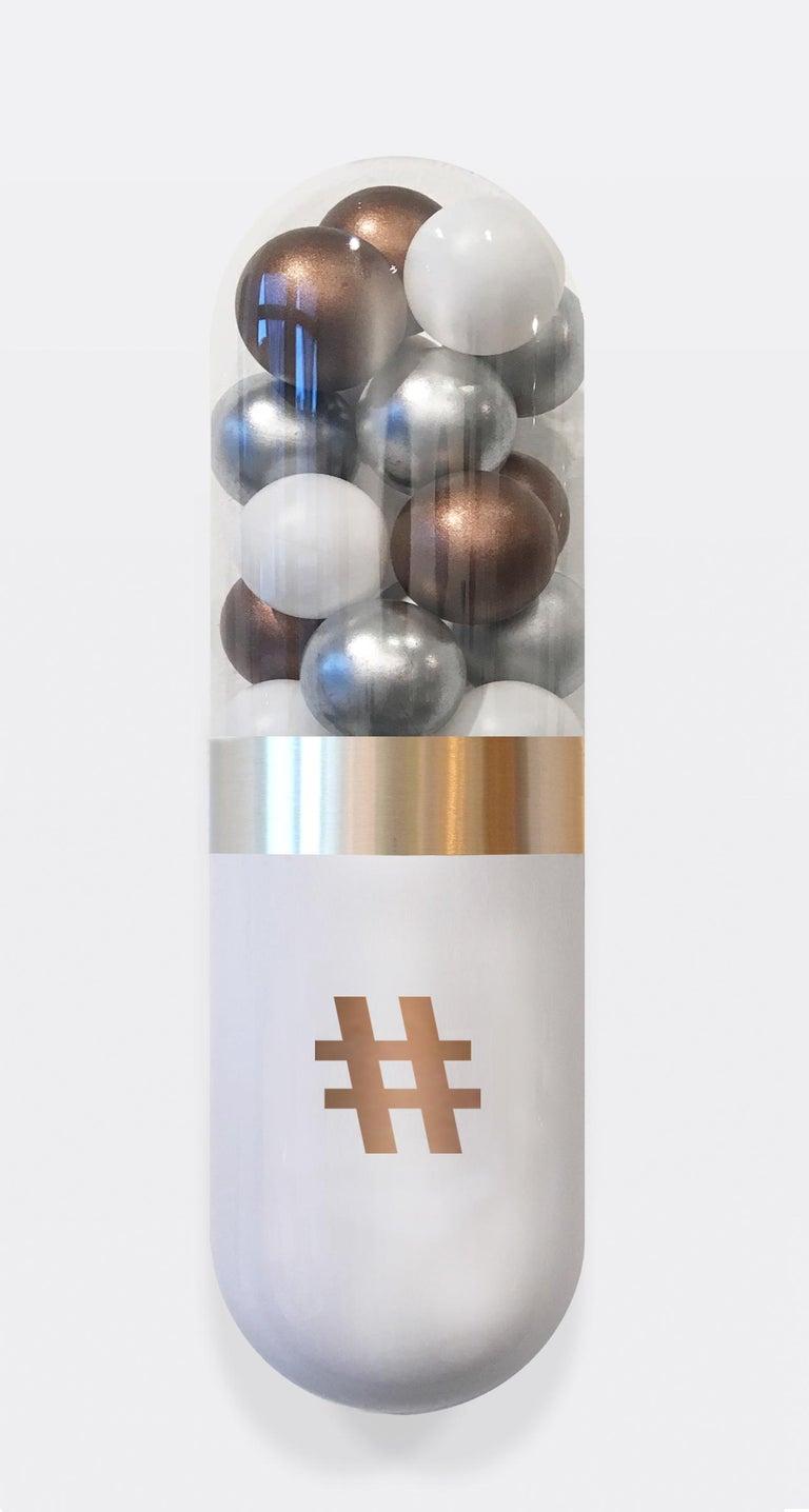 Better Living Thru Chemistry: Precious Social - Sculpture by Edie Nadelhaft