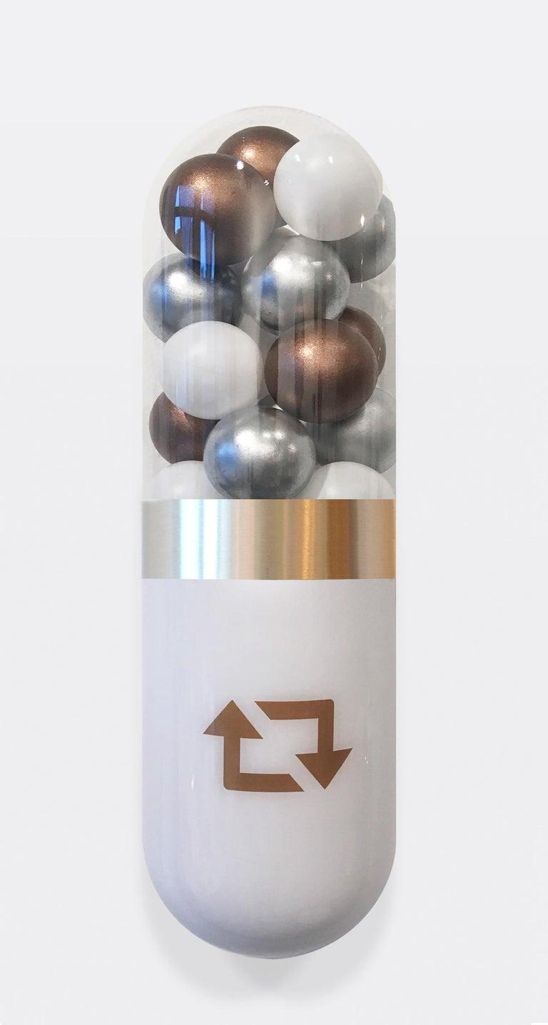Better Living Thru Chemistry: Precious Social - Gray Still-Life Sculpture by Edie Nadelhaft