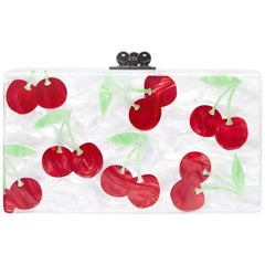 Edie Parker Cherries Box Clutch Bag
