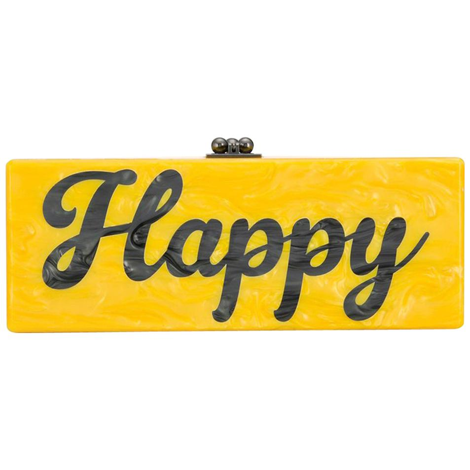 Edie Parker 'Happy' Box Clutch