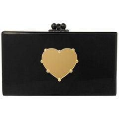 Edie Parker Jean Heart Acrylic Box Clutch