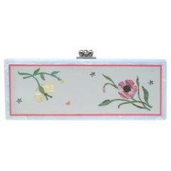 Edie Parker Multicolor Floral Acrylic Flavia Jardin Clutch