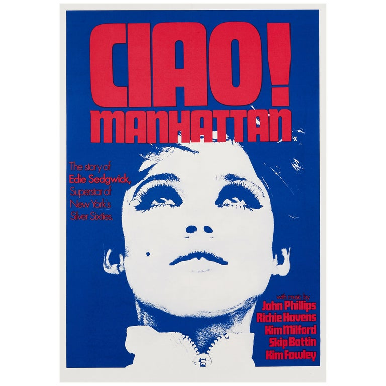 Edie Sedgwick 'Ciao! Manhattan' Original Vintage Movie Poster, British, 1973 For Sale