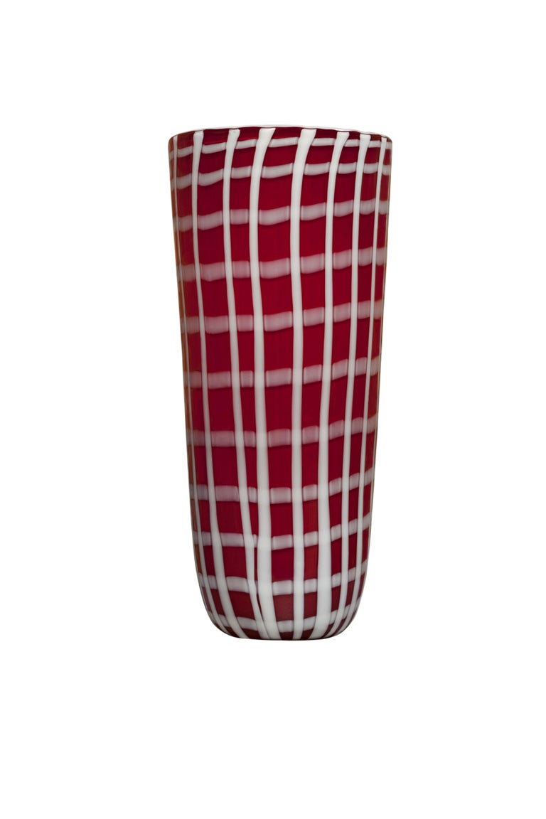 Italian 21st Century Elena Cutolo Vase Murano Glass Various Colors For Sale