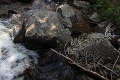 """Western states 2"" Color Landscape Photograph, River Rocks"