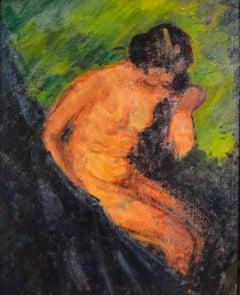 """Female Nude,"" Edith Glackens Dimock, Ashcan School Figurative Painting"