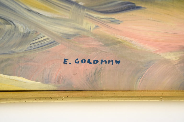 American Edith Goldman Modern Oil on Canvas For Sale