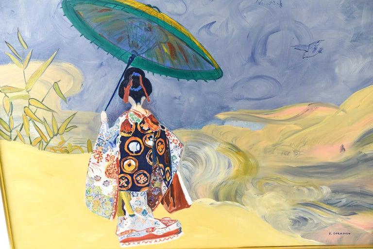 Paint Edith Goldman Modern Oil on Canvas For Sale