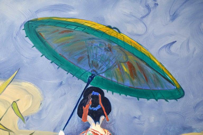 Edith Goldman Modern Oil on Canvas For Sale 1