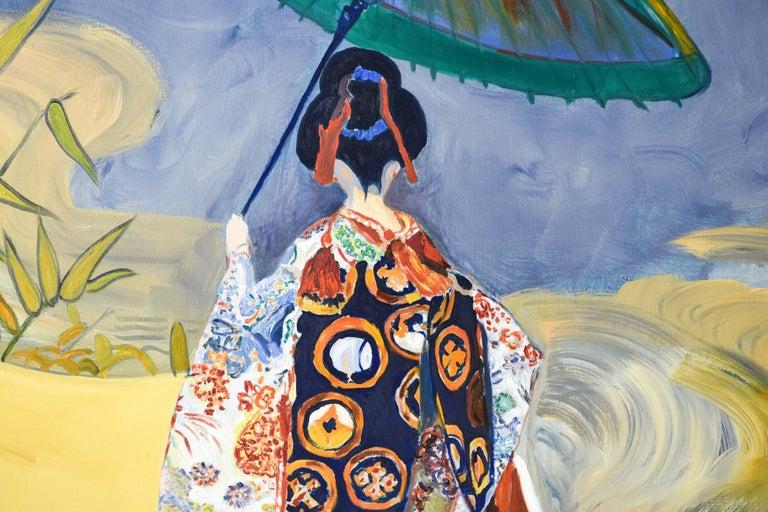 Edith Goldman Modern Oil on Canvas For Sale 2