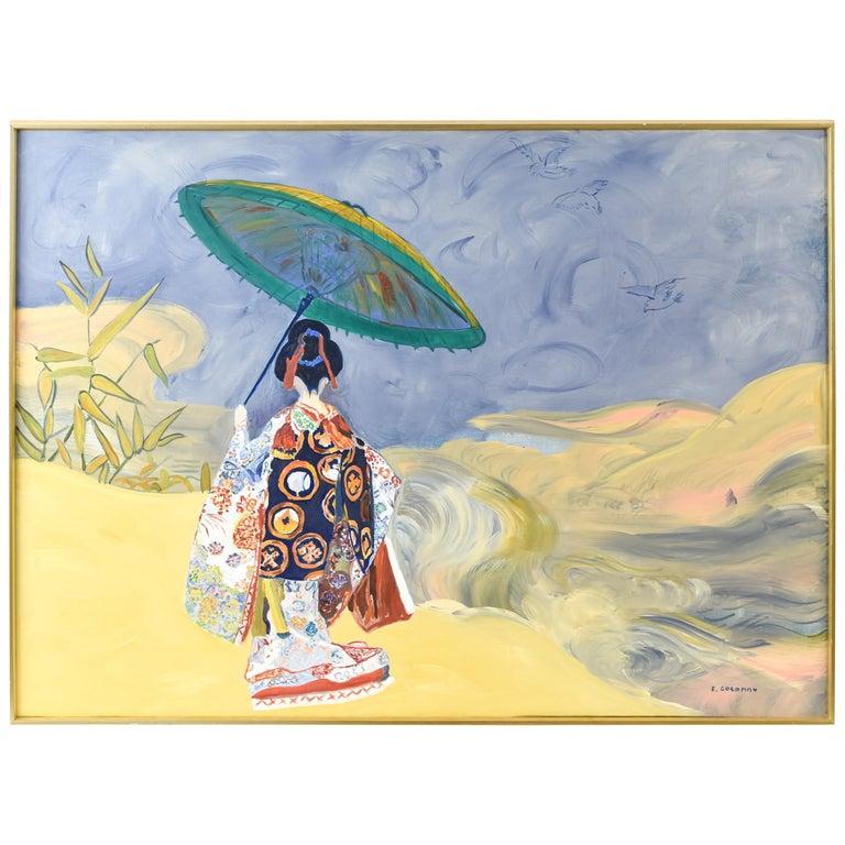 Edith Goldman Modern Oil on Canvas For Sale
