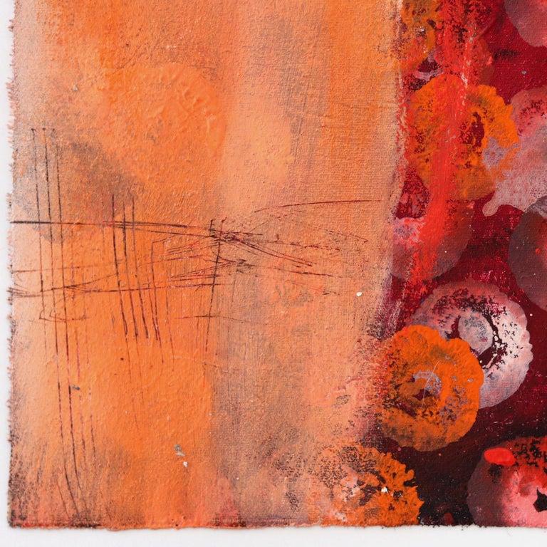 4408 - Orange Figurative Painting by Edith Konrad