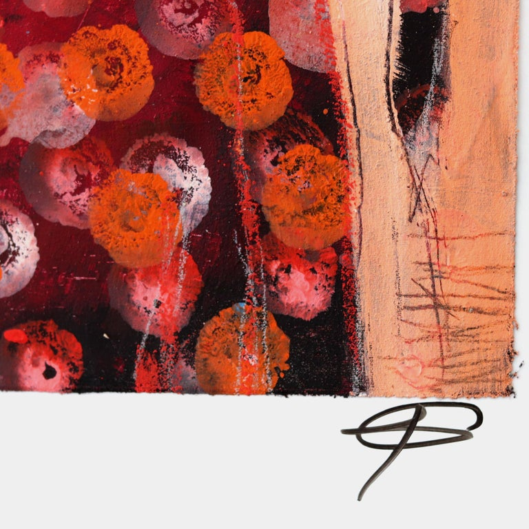Blurring the distinction between figure and abstract settings, Swiss artist Edith Konrad's spectral forms—human in shape—inhabit muted abstract environments punctuated by vivid bursts of color. In combinations of acrylic on canvas, mixed media, and