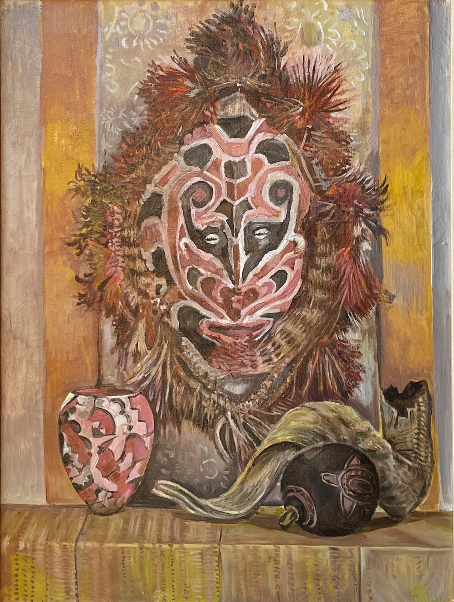 """""""Ethnographic Still Life,"""" Edith Kramer, African Mask and Shofar, Art Therapy"""