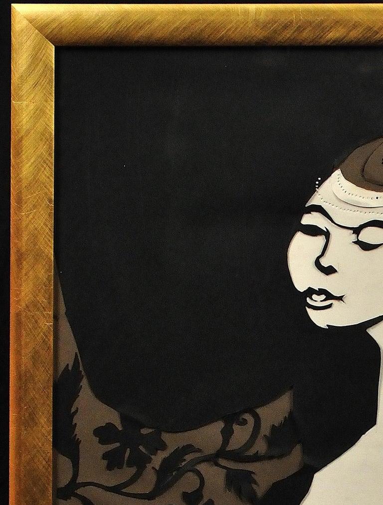 Ballet Girl (Lesley Blandy).Paper Cut Bas Relief.Scalpel Painting.Original.1967. For Sale 2