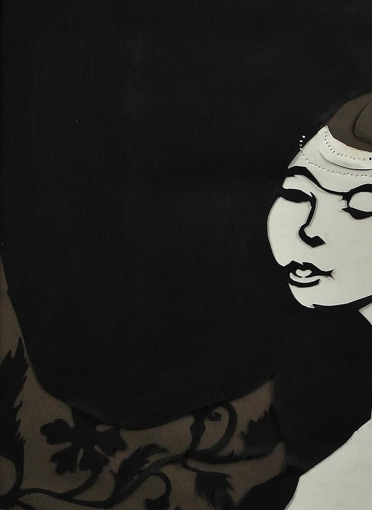Ballet Girl (Lesley Blandy).Paper Cut Bas Relief.Scalpel Painting.Original.1967. For Sale 3